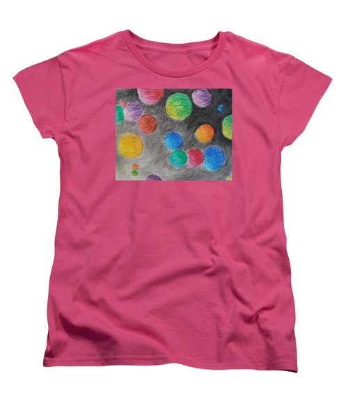 Colorful Orbs Women's T-Shirt (Standard Cut) by Thomasina Durkay
