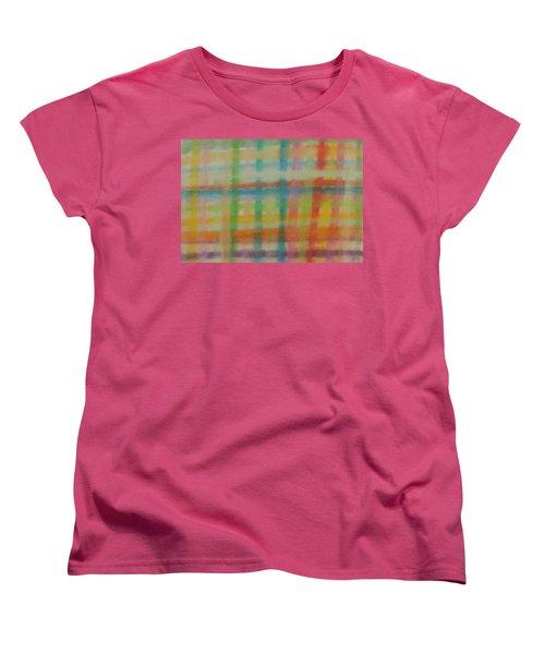 Colorful Plaid Women's T-Shirt (Standard Cut) by Thomasina Durkay