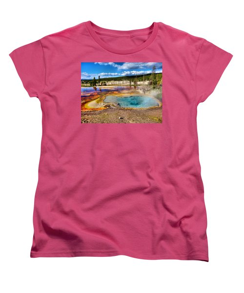 Colors Of Yellowstone National Park Women's T-Shirt (Standard Fit)