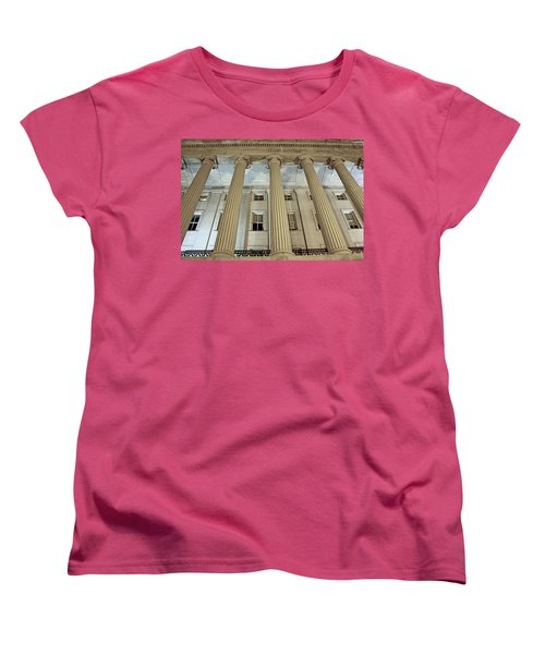 Women's T-Shirt (Standard Cut) featuring the photograph Columns Of History by Suzanne Stout