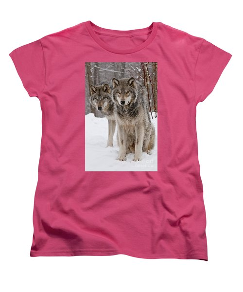 Companions Women's T-Shirt (Standard Cut) by Wolves Only
