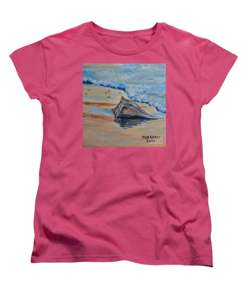 Conched Out Women's T-Shirt (Standard Cut) by Julie Brugh Riffey