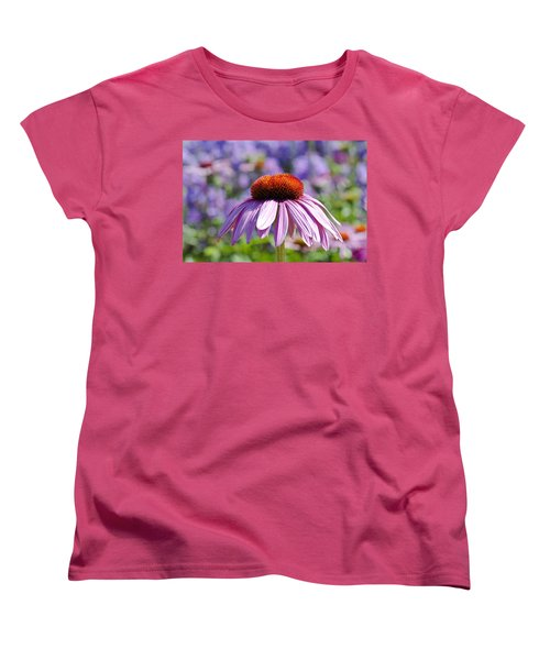 Women's T-Shirt (Standard Cut) featuring the photograph Coneflower by Lana Enderle