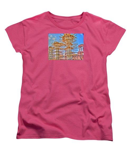 Women's T-Shirt (Standard Cut) featuring the pyrography construction whsd  Peterburg by Yury Bashkin
