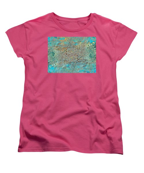 Women's T-Shirt (Standard Cut) featuring the photograph Cool Blue Tangle by Stephanie Grant