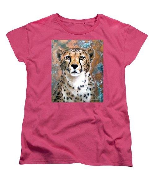 Copper Flash - Cheetah Women's T-Shirt (Standard Cut) by Sandi Baker