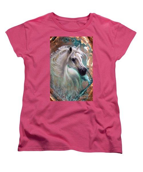 Copper Grace - Horse Women's T-Shirt (Standard Cut) by Sandi Baker