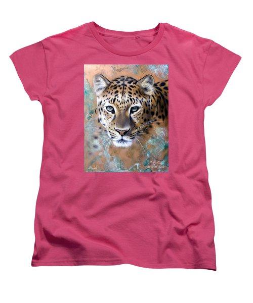 Copper Stealth - Leopard Women's T-Shirt (Standard Cut) by Sandi Baker