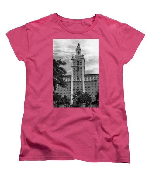 Coral Gables Biltmore Hotel In Black And White Women's T-Shirt (Standard Cut) by Ed Gleichman