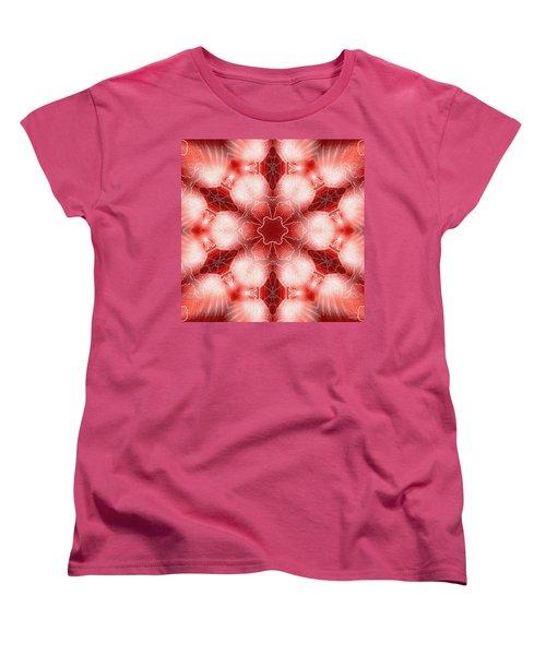 Cosmic Spiral Kaleidoscope 22 Women's T-Shirt (Standard Cut) by Derek Gedney