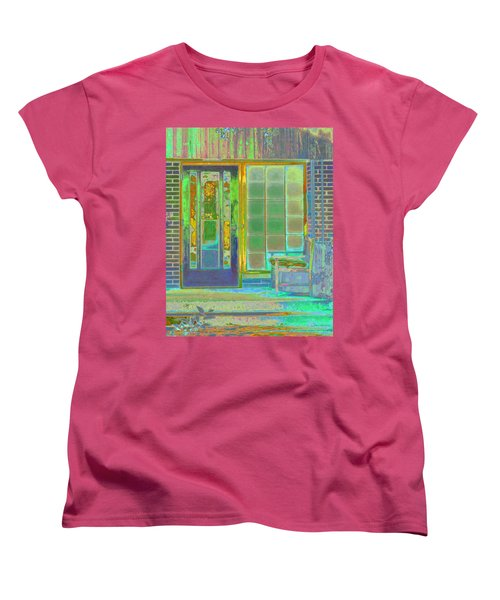 Cottage Porch Women's T-Shirt (Standard Cut) by Don and Judi Hall
