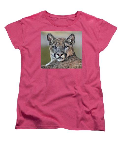 Women's T-Shirt (Standard Cut) featuring the photograph Cougar  by Savannah Gibbs