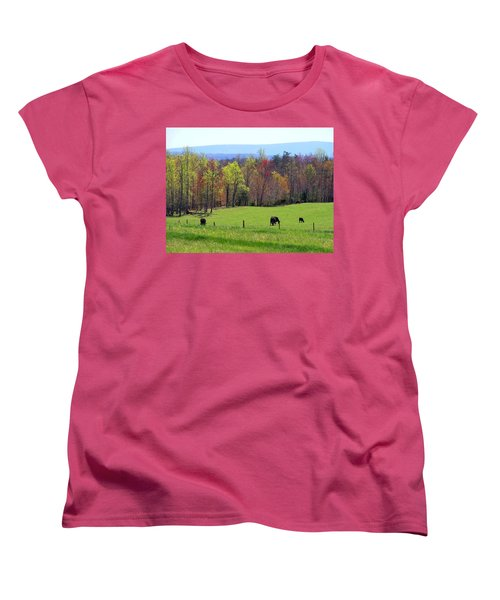 Women's T-Shirt (Standard Cut) featuring the photograph Countryside In Spring by Kathryn Meyer