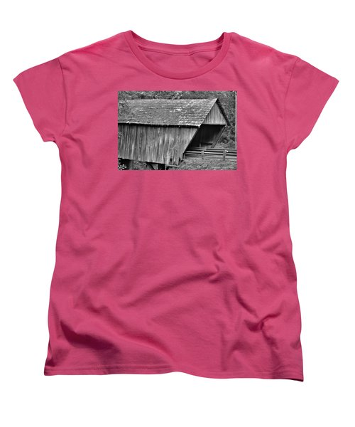Covered Bridge Women's T-Shirt (Standard Cut) by Tara Potts