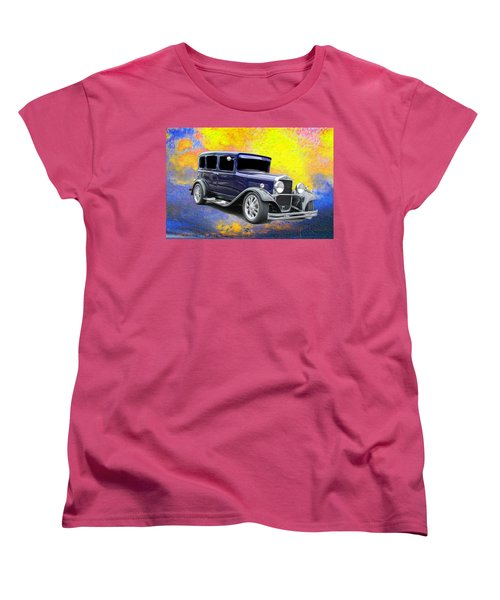 Vintage Women's T-Shirt (Standard Cut) featuring the photograph Crank It  by Aaron Berg
