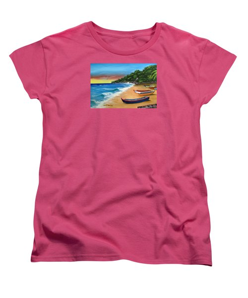 Crashboat Beach Wonder Women's T-Shirt (Standard Cut) by Luis F Rodriguez