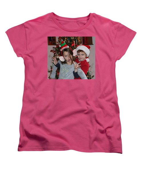Crazy Christmas Women's T-Shirt (Standard Cut) by Denise Romano