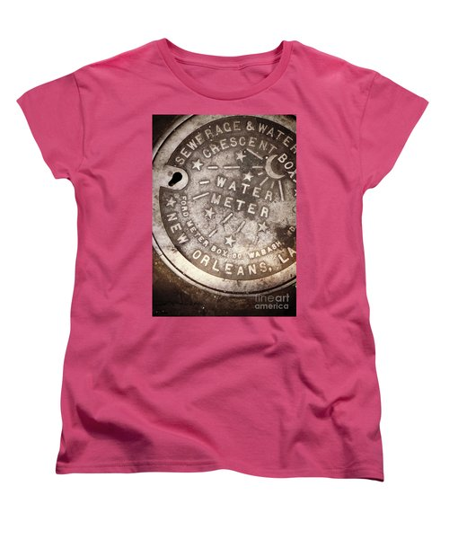 Crescent City Water Meter Women's T-Shirt (Standard Cut) by Valerie Reeves