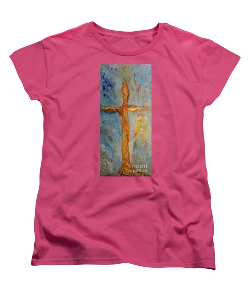 Cross Of Endless Love Women's T-Shirt (Standard Cut) by Ella Kaye Dickey