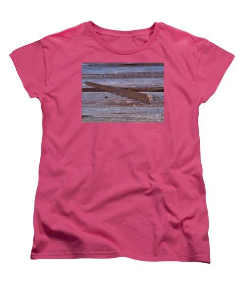 Crosscut Saw Women's T-Shirt (Standard Cut) by D Hackett