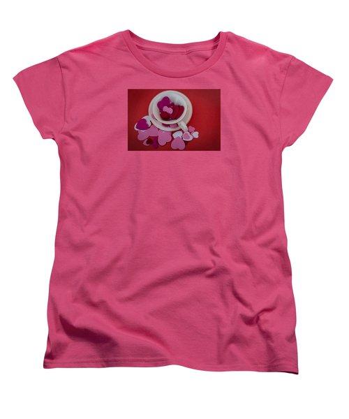 Cup Full Of Love Women's T-Shirt (Standard Cut) by Patrice Zinck