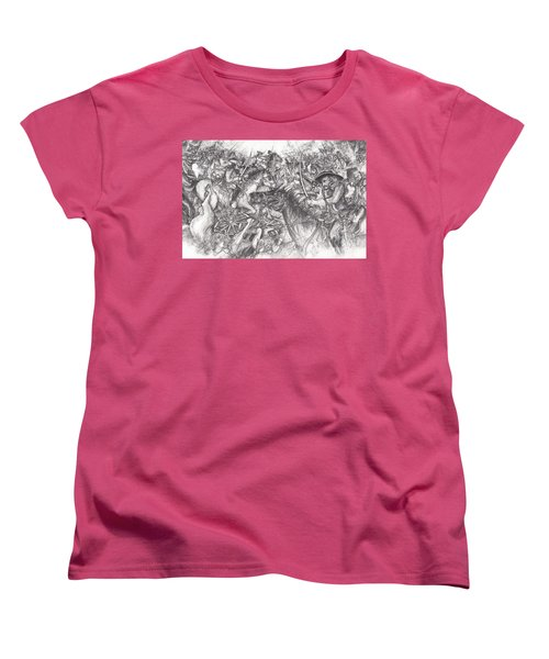 Custer's Clash Women's T-Shirt (Standard Cut) by Scott and Dixie Wiley
