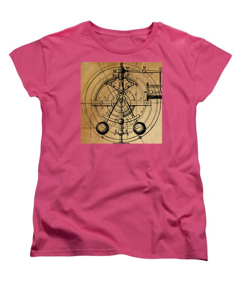 Women's T-Shirt (Standard Cut) featuring the painting Cyclotron by James Christopher Hill
