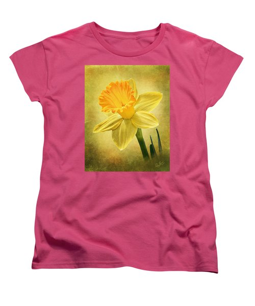 Women's T-Shirt (Standard Cut) featuring the photograph Daffodil by Ann Lauwers