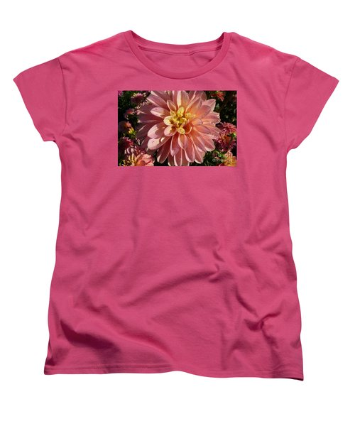 Women's T-Shirt (Standard Cut) featuring the photograph Dahlia October by Susan Garren