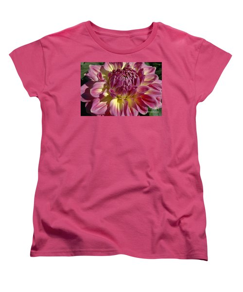 Women's T-Shirt (Standard Cut) featuring the photograph Dahlia Vii by Christiane Hellner-OBrien
