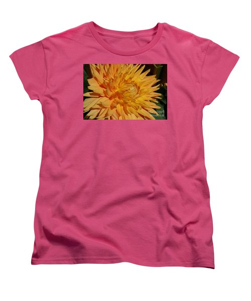 Women's T-Shirt (Standard Cut) featuring the photograph Dahlia Xiii by Christiane Hellner-OBrien