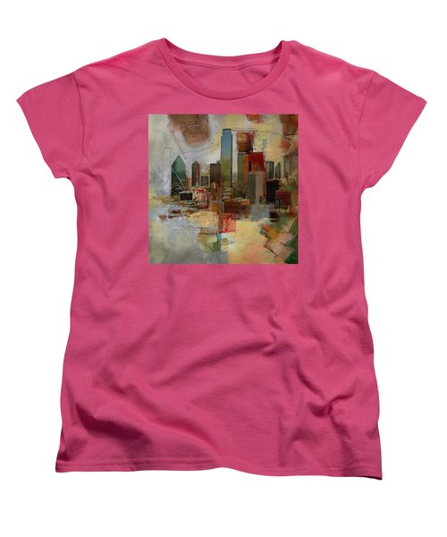 Dallas Skyline 003 Women's T-Shirt (Standard Cut) by Corporate Art Task Force