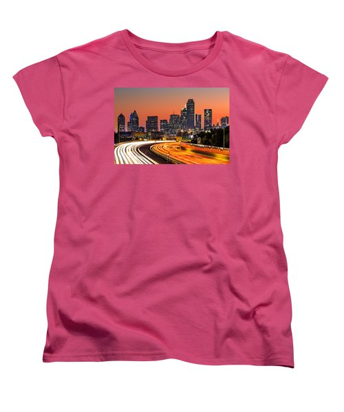 Dallas Sunrise Women's T-Shirt (Standard Cut) by Mihai Andritoiu