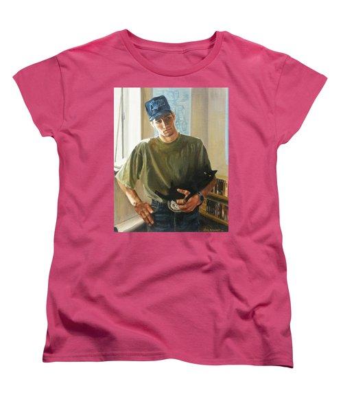 Women's T-Shirt (Standard Cut) featuring the painting David And Pulim by Lori Brackett