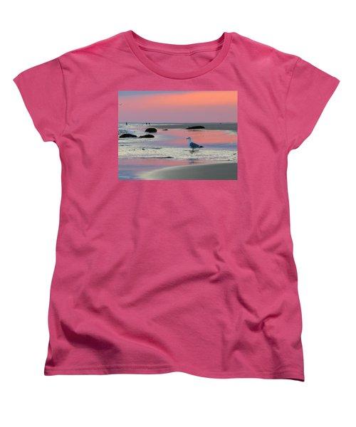 Women's T-Shirt (Standard Cut) featuring the photograph Dawn In Pink by Dianne Cowen