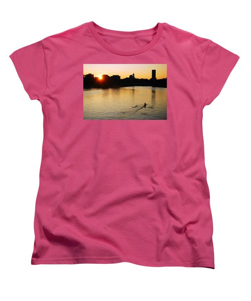 Women's T-Shirt (Standard Cut) featuring the photograph Dawn On The Charles by James Kirkikis