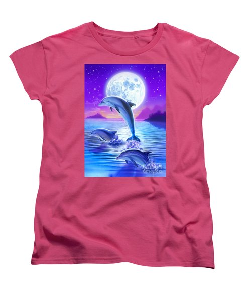 Day Of The Dolphin Women's T-Shirt (Standard Cut) by Robin Koni
