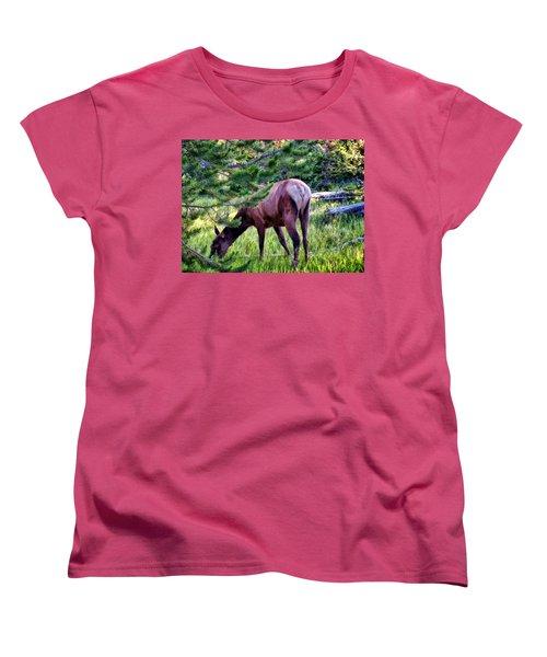 Women's T-Shirt (Standard Cut) featuring the photograph Deer 7 by Dawn Eshelman