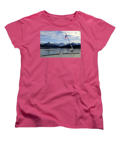 Women's T-Shirt (Standard Cut) featuring the photograph Departing Auke Bay by Cathy Mahnke