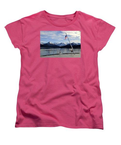 Departing Auke Bay Women's T-Shirt (Standard Cut)
