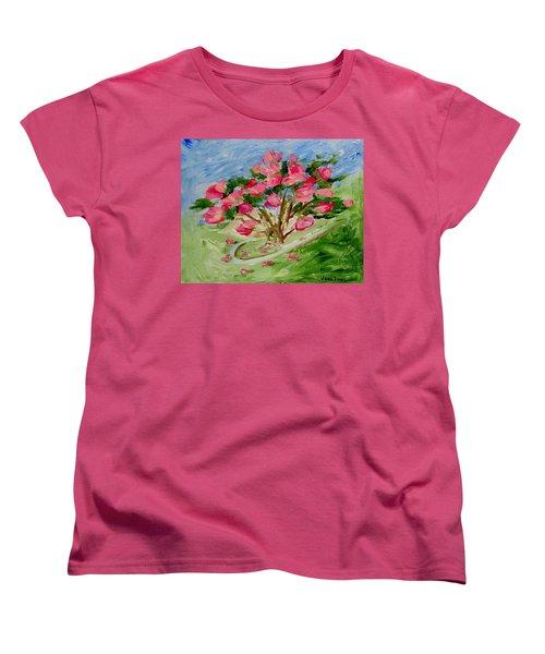Desert Rose Abstract Women's T-Shirt (Standard Cut) by Jamie Frier