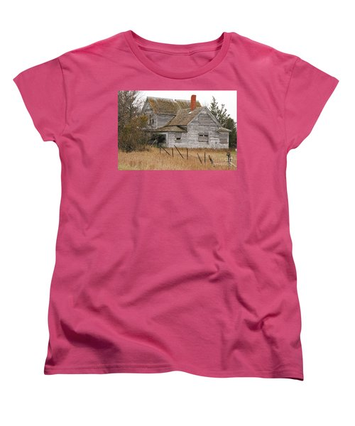 Women's T-Shirt (Standard Cut) featuring the photograph Deserted House by Mary Carol Story
