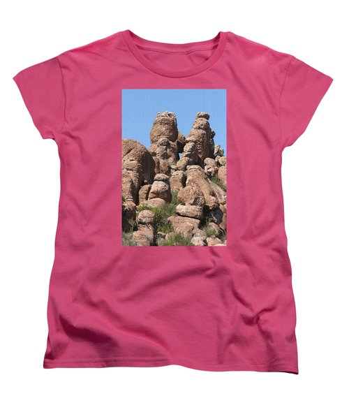 Women's T-Shirt (Standard Cut) featuring the photograph Devils Canyon Wall by Tom Janca