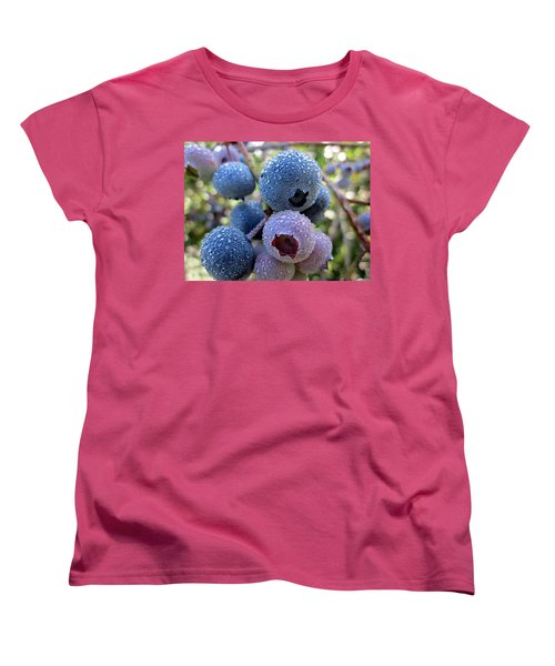 Dewy Blueberries Women's T-Shirt (Standard Cut) by MTBobbins Photography