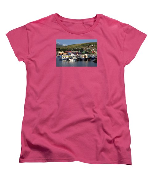 Dingle Harbour County Kerry Ireland Women's T-Shirt (Standard Cut) by Aidan Moran