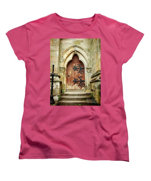Distressed Door Women's T-Shirt (Standard Cut) by Valerie Reeves