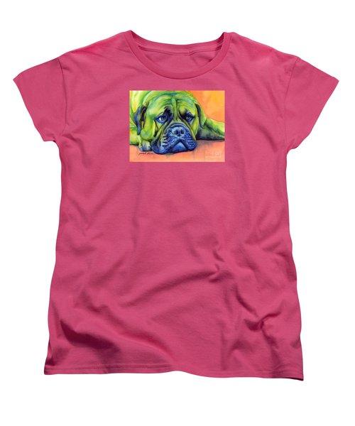 Dog Tired Women's T-Shirt (Standard Cut) by Hailey E Herrera