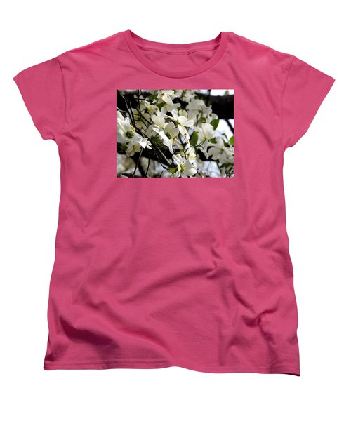 Dogwoods In The Spring Women's T-Shirt (Standard Cut) by Kim Pate