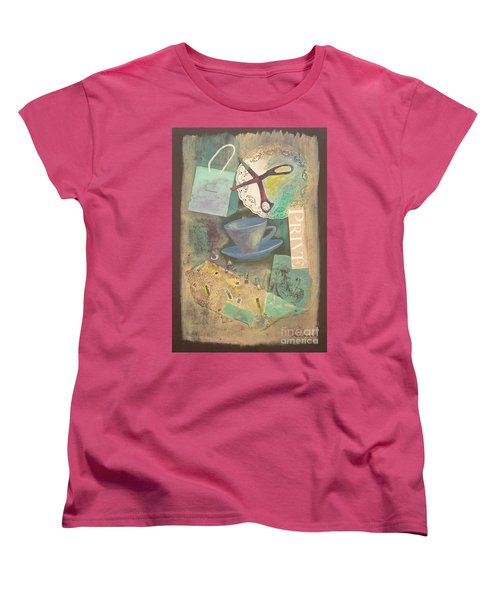 Women's T-Shirt (Standard Cut) featuring the painting Don't Be Blue by Mini Arora
