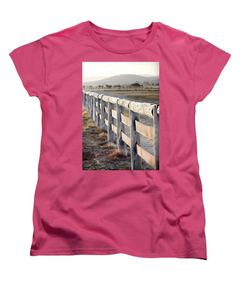 Don't Fence Me In Women's T-Shirt (Standard Cut) by Holly Kempe